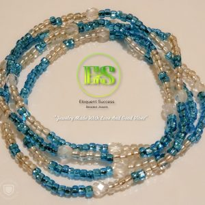 Blue Ice Me Out Waist Bead